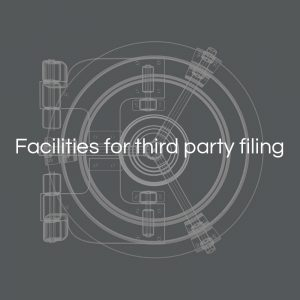 Facilities for third party filing